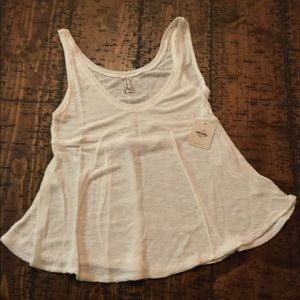 NEW Free People tank top, white, small.